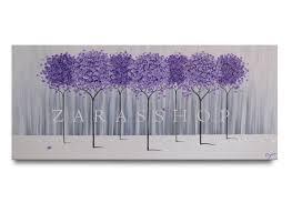 Lavender Home Decor Large Modern Home Decor Purple Lavender Abstract Tree