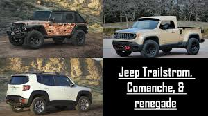 jeep renegade concept 50th annual easter jeep safari jeep trailstrom jeep comanche