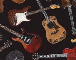 Guitar Rugs Guitar Fabric Etsy