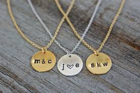 Stamped Name Necklace Gorgeous Personalized Hand Stamped Necklaces Only 8 99 Thrifty