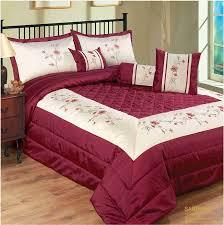 Gold Quilted Bedspread Burgundy Bedspread Set 7 Pcs Quilted Conforter Set Burgundy