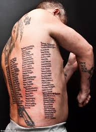 shaun clark tattoo former soldier has names of those killed in