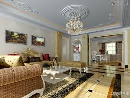 living pop false ceiling design with wooden tray for living room