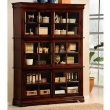 cherry bookcase with doors foter