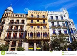 valencia ayuntamiento sq casa ferrer and noguera stock photo