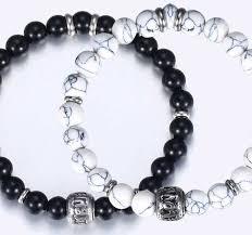 love bead bracelet images True love couple bracelets howlite beads bracelet black beaded jpg