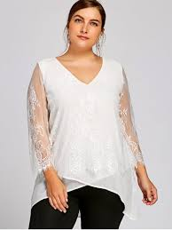 plus size white blouses plus size lace trim v neck blouse white plus size blouses 5xl zaful
