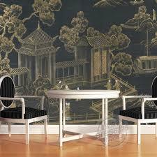 fresque chambre b personnalisé 3d murale classique chinois palais bâtiment grande