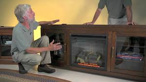Outdoor Entertainment Center by Drew Electric Fireplace Entertainment Center Plow U0026 Hearth Youtube