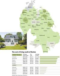 Map Of Boston And Surrounding Area by Property Tax Bills Add To Cost Of Living In The Suburbs The