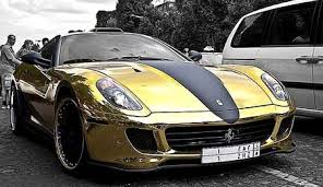 gold 599 gtb price rich tycoon coats his in gold