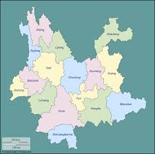 China Province Map Cu Abroad Audrey Boochever Maps Of Yunnan Province