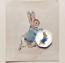 rabbit by beatrix potter royal mint website mobbed by coin collectors as it launches four