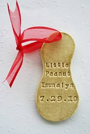 personalized peanut ornament custom made to
