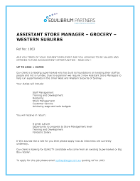 Furniture Store Manager Resume Cover Letter Store Manager Resume Sample Store Manager Resume
