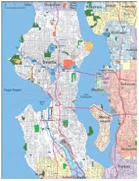 seattle map editable seattle wa city map illustrator pdf digital vector