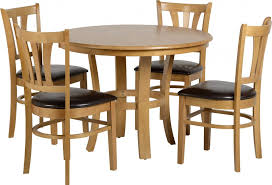 40 round table seats how many grosenda 40 round dining table natural oak 4 brown pu chairs