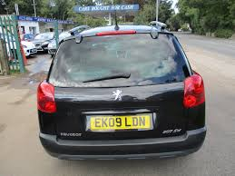 peugeot diesel cars used 2009 peugeot 207 sw outdoor estate pan roof for sale in
