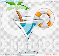 cosmopolitan clipart clipart of a cocktail glass with a life buoy and palm tree
