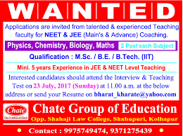 Chate jobs in chate group of education vacancies in chate group of