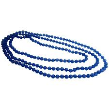 sapphire chain necklace images Bridesmaid gift blue sapphire long multifaceted beads necklace jpg