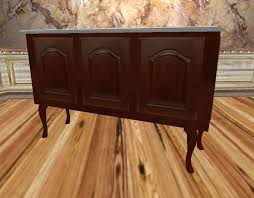 Marble Top Buffet by Second Life Marketplace Mahogany Queen Anne Buffet With White