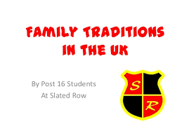 family traditions in uk