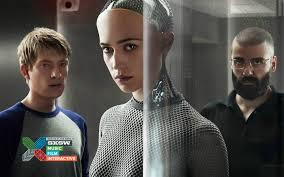 ex machina director sxsw interview oscar isaac domhnall gleeson writer director alex