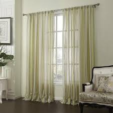 Green Sheer Curtains Leyden Rod Pocket Neoclassical Green And Yellow Stripes Jacquard