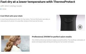 Philips Hp8230 Hair Dryer Thermoprotect 2100w philips hair dryer hp8230 03 2100w lazada
