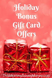 gift card offers bonus gift card offers this saves money
