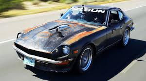junkyard car youtube junkyard turbo swap chevy powered 1971 datsun 240z autocross