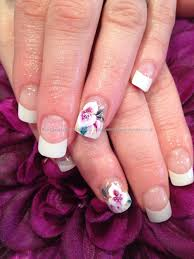eye candy nails u0026 training white tips with acrylic overlays and