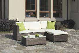 Outdoor Furniture 3 Piece by Outdoor Furniture 3 Piece Set With Ottoman In Grey Rattan The