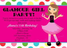 girls birthday invitations birthday invitations