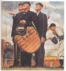 norman rockwell baseball print umpires bottom of the sixth 8