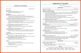 Macy S Resume Two Page Resume Moa Format
