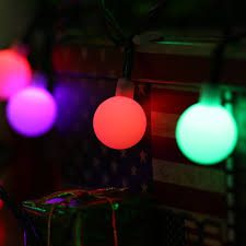 solar globe 50 led ball string lights solar powered christmas