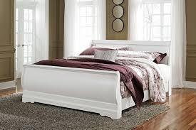 King Sleigh Bed Anarasia King Sleigh Bed B129 78 76 97 Complete Beds