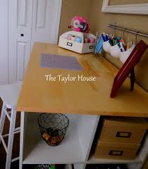 Diy Craft Desk With Storage Diy Inexpensive Craft Table With Storage The House