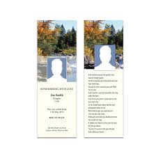 memorial bookmarks memorial bookmarks with customised design printing studio