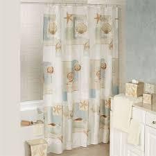 Seashell Shower Curtains Bayside Coastal Seashell Shower Curtain