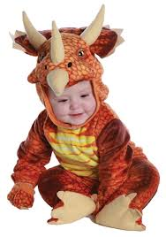 Dinosaur Halloween Costume Toddler Infant Toddler Rust Triceratops Costume
