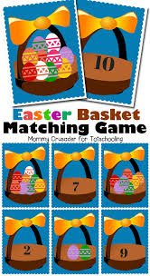 free easter basket matching game totschooling toddler