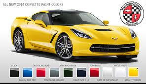 2014 corvette colors 2014 corvette specs national corvette museum