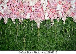 wedding backdrop green backdrop pink flowers and green leaf arrangement for wedding