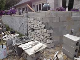 inspirations block wall planters outdoor fireplace cinder block