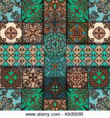 arabesque seamless pattern in moroccan style tile islamic stock