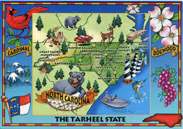 North Carolina Maps Map Of North Carolina Remembering Letters And Postcards