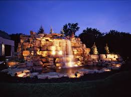 waterfall lighting creates sanctuaries outdoor lighting